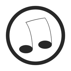 Music note sign simple icon on background