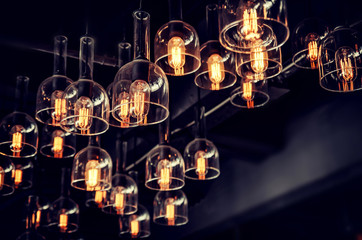 beautiful luxury  retro light bulb decor, vintage style