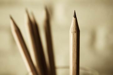pencil. Vintage filter.