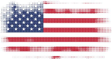 american flag halftone
