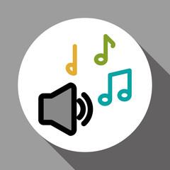 Graphic design of music , vector illustration