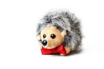 toy hedgehog isolated on white