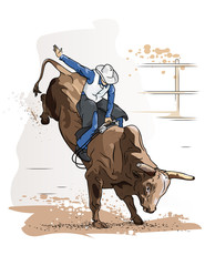 Cowboy Bull Riding