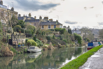 Amazing view of the canals in Bath