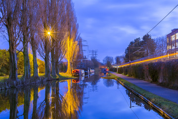 Amazing view of the canals in Birmingham