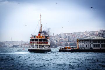 Boat in Golden Horn, Istanbul, Turkey.