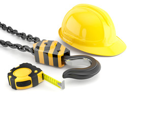 Set of construction and engineering equipment.