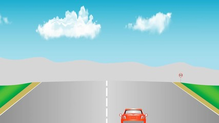 009 Cars On Road Animation Car Traffic A Typical Dual Carriageway Motor Driving