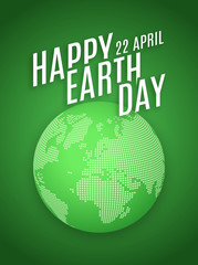 Earth day, April 22, graphic illustration poster