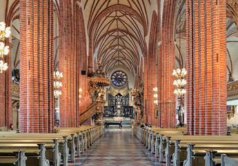 Interior of Storkyrkan (The Great Church) in Stockholm, Sweden