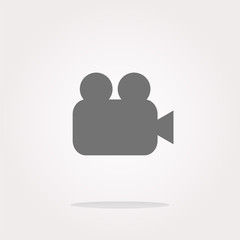vector video camera icon web app button