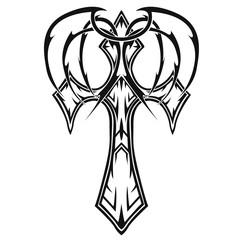 crosses (crucifix) tattoo, religious design elements