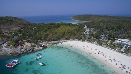 aerial view of racha island harbor andaman sea phuket southern o