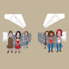 Transportation Airplane women passengers