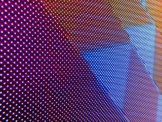 Abstract led screen with highlights and shadow