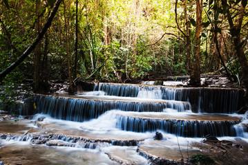water fall in ThaiLand ,Hauy Maekamin water fall