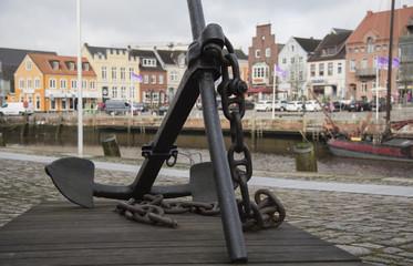 Anchor at Husum harbor