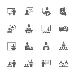 Simple Business Presentation Icons