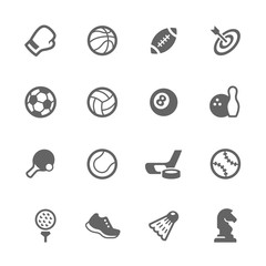 Simple Sport Equipment Icons