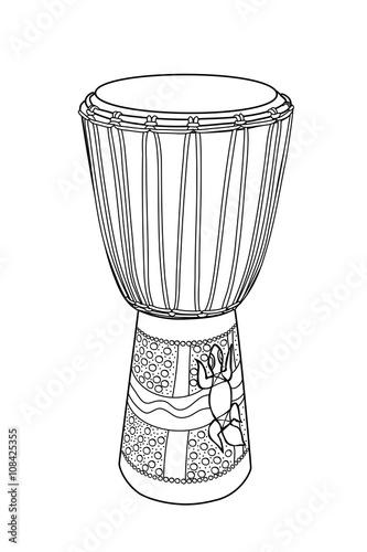DJEMBE. Afrikanische Trommel.\