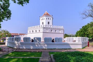 Phra Sumen Fort, landmark in Bangkok, Thailand.