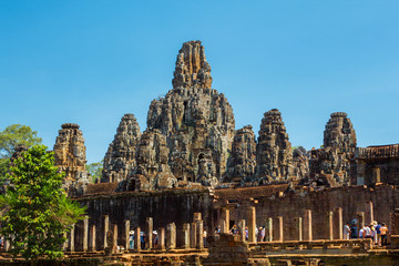 ancient of Prasat Bayon temple, Angkor Thom