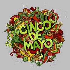 Cinco de Mayo. Cartoon vector hand drawn Doodle illustration