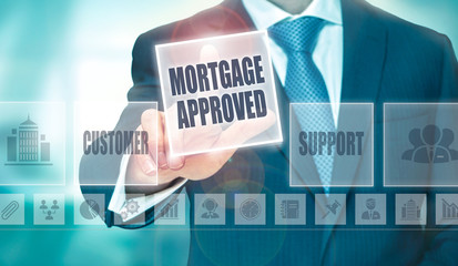 Business Mortgage Approved Concept