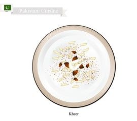 Kheer or Palestinian Rice Pudding with Nuts and Spices