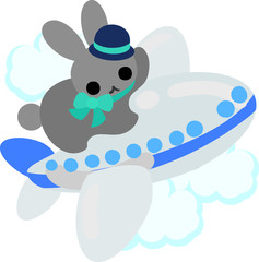 The rabbit which does the figure of the cabin attendant