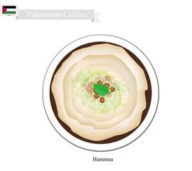 Hummus or Palestinian Chickpeas Spread Dip or Spread