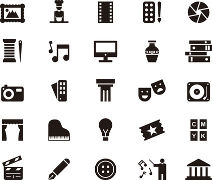 THE SEVEN ARTS glyph icons