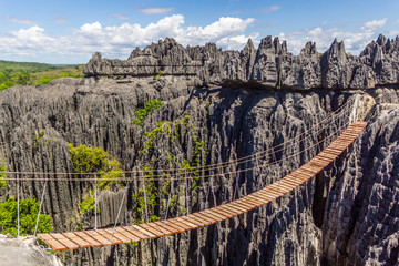Pont de singe sur les tsingy de Bemahara