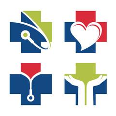 Health Medical Cross Doctor Set Symbol