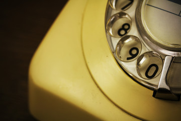 Old retro style rotary telephone