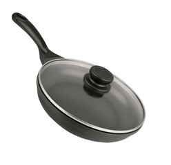 black frying pan isolated