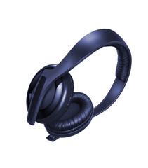 Black Pair of Headphones Isolated