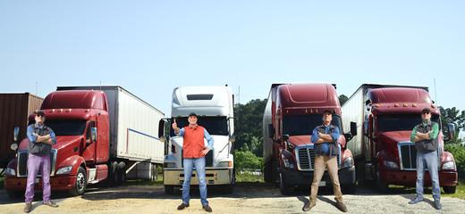 Truck drivers Fototapete