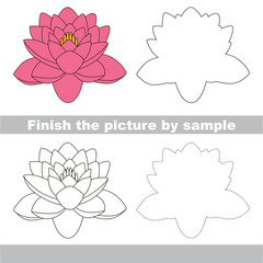 Lotus. Drawing worksheet.