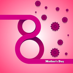 8 may Mother's Day background vector eps 10