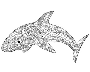 Happy shark with high details.