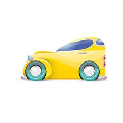 vector cartoon orange car isolated on white
