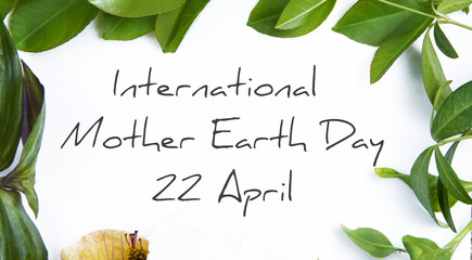 International Mother Earth Day 22 April