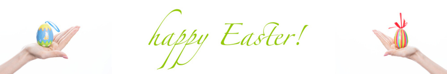 happy Easter banner for greetings of guests