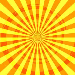 Abstract Burst Ray Background Orange