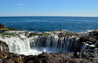 """Bufadero of La Garita"", Gran canaria, Canary islands. Photo series in burst mode. Nº 5"