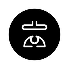 vector yoga icon and logo