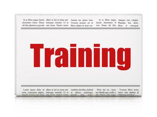 Learning concept: newspaper headline Training