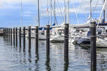 Sailing Boats in the Harbour of Kiel, Kiel Week