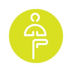yoga vector icon logo